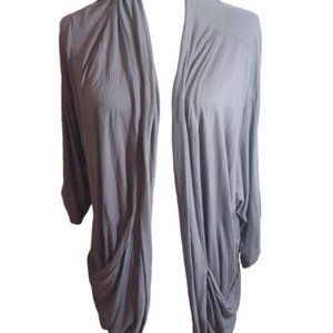 3/$20  Stripe purple draped pocket cardigan 2